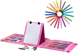 AMERTEER Art Supplies 176PCS for Painting & Drawing, Art Set Case, Portable Art Box, Oil Pastels, Crayons, Colored Pencil...