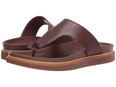 Clarks Trace Sand (Mahogany Leather) Men