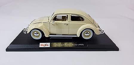 Maisto 1:18 scale Volkswagen kafer - beetle (1955) cream/white