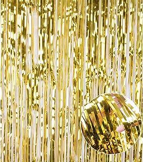Careonline Fotohintergrund mit Pailletten, glänzend, Gold/Schwarz Modern 1 Pack Gold