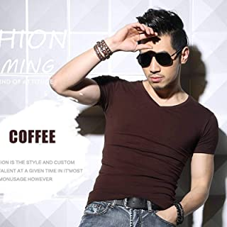 Men's T-shirt Short Sleeve O-neck Slim Solid Color Half Sleeve T-shirt