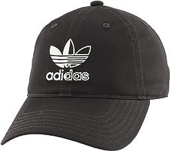 adidas Originals メンズ スプリットトレフォイルロゴ リラックスフィット ストラップバックキャップ