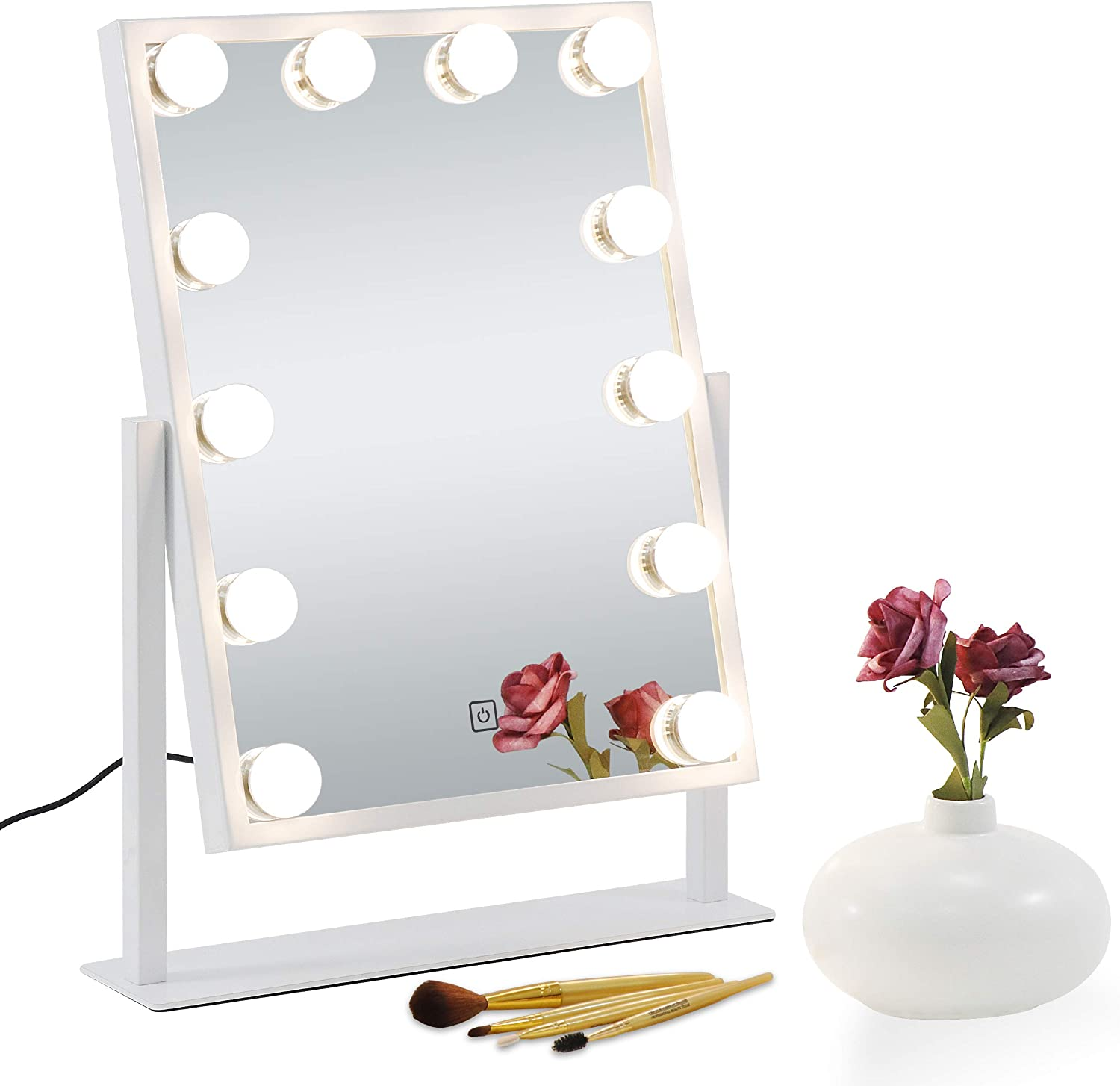 ZENY Lighted Makeup Vanity Mirror with 10X Finally popular brand 12 LEDs Lights Max 75% OFF Ma and