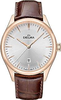 DELMA - Heritage Quartz Reloj para Hombre Analógico de Cuarzo con Brazalete de Piel de Vaca 43601.686.6.061