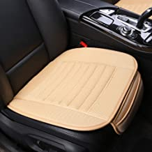 Car Seat Covers,Universal Car Seat Covers,Grid Linen Bottom Seat Covers for Cars,Built-in Bamboo Charcoal Particles,Comfortable Ventilated [Beige Front Seat]