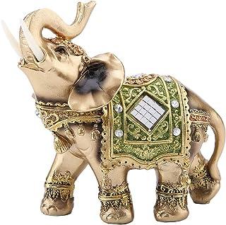 Hztyyier Elephant Decoration, Feng Shui Elephant Statue Sculpture, Éléphant Figurine pour Home Office Décoration Bon Cadea...