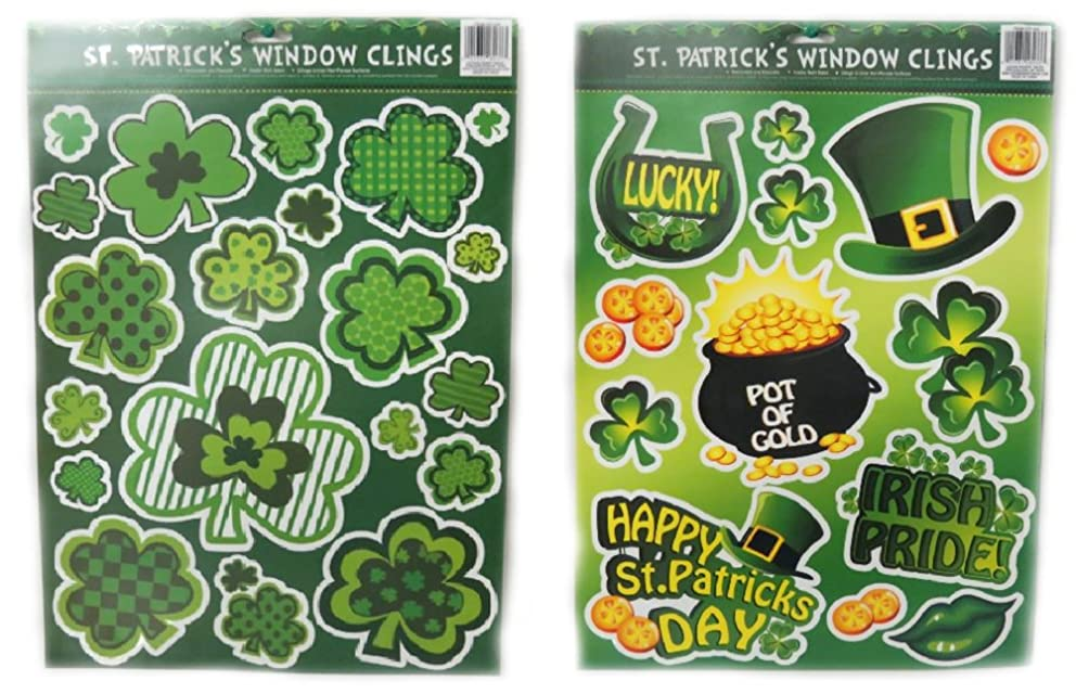 St Patrick Day Window Clings - 2 Pack