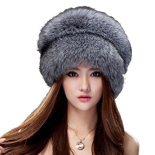 7a7cebc935bc9 URSFUR Women Autumn Winter Beanies Elastic Knitted Wool Cotton Hats  Multicolor