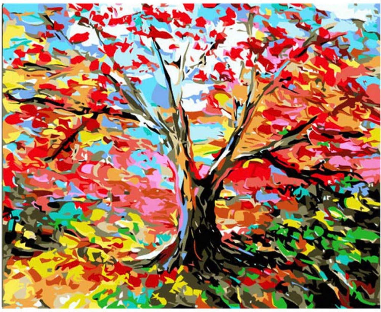 Malen Nach Zahlen Arbeitet Färbung Nach Zahlen Bunte Baum Home Decor