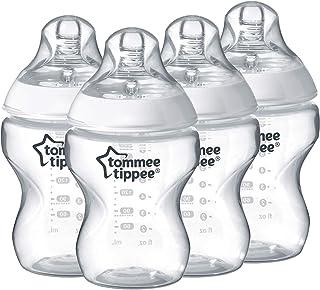 زجاجات ارضاع تمنح شعور اقرب للطبيعي من تومي تيبي، 260 مل (مجموعة من 6 قطع)