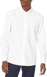 Men's Slim-fit Long Sleeve Stripe Oxford Shirt