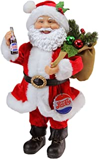 Northlight Santa Claus with Gift Sack Holding Pepsi Cola Bottle and Cap Christmas Figure, 12