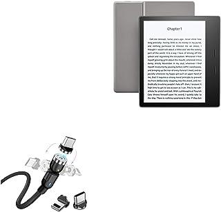 Cabo Amazon Kindle Oasis (2017), BoxWave [MagnetoSnap AllCharge] Cabo de carregamento magnético USB tipo-C Micro USB para ...