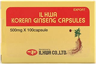 Ilhwa Korean Ginseng Capsules, 500 mg, 100 Capsules
