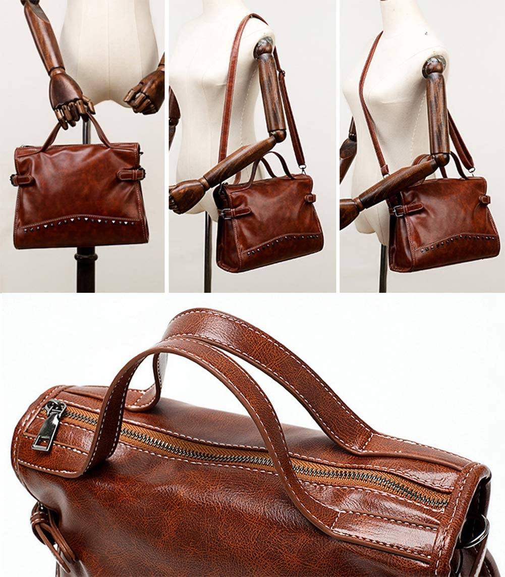 M3M Femmes Sac fourre-Tout Sacs à Main PU Cuir Mode Hobo Sacs à bandoulière avec bandoulière réglable B