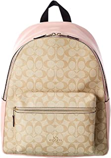 Coach Charlie Signature Canvas & Leather Backpack, Brown