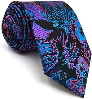 SHLAX&WING Multicolor Patterned Necktie Mens Tie Silk Geometric Unique Wedding