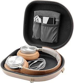 Linkidea Case 适用于 B&O Play H2、H6、H8、H9i、索尼 XB950B1 XB950N1 XB950BT 耳机/硬便携包/耳机保护旅行袋带空间,充电器和配件(肉色)
