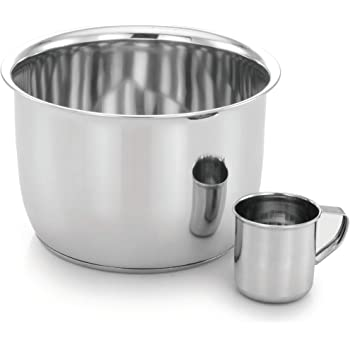 Expresso 6 Quart Stainless Steel Cooking Pot with Cup 250 Ml
