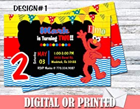 personalized elmo birthday party invitations