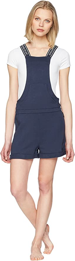 Logo Power Terry Salopette Romper