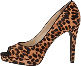 Jessica Simpson Womens Dalyn3 Leopard Dressy Peep-Toe Heels