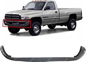 MBI AUTO - Textured, Gray Front Bumper Cover Fascia for 1994-2002 Dodge RAM 1500 2500 3500 94-02, CH1000232