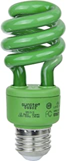 Sunlite SM13/G 13-watt Spiral Energy Saving Compact Fluorescent CFL Light Bulb (40-Watt Incandescent Equivalent), Medium Base, Green
