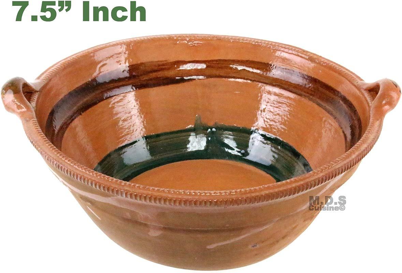 Cazuela De Barro 7 5 Lead Free Mexican Clay Traditional Casserole Decorative Artisan Artezenia