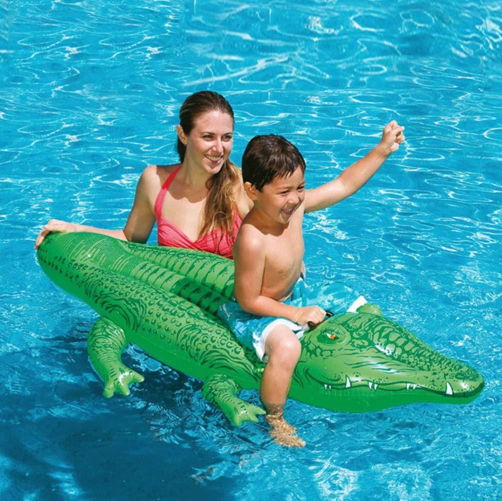 Tossi Inflable Cocodrilo Piscina Flotador Gigante Verde Cocodrilo Flotante Haragán con encargarse de Flotador Asiento Playa Juguete para Niños y Los Adultos 168 * 86 cm: Amazon.es: Deportes y aire libre