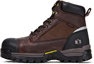 ROCKROOSTER Work Boots for Men, Composite Toe Waterproof Working Boots, Non-Slip Puncture Resistant Anti-Static Safety EH Working Shoes with Rubber Outsole 6 8 9 10 11 12 13