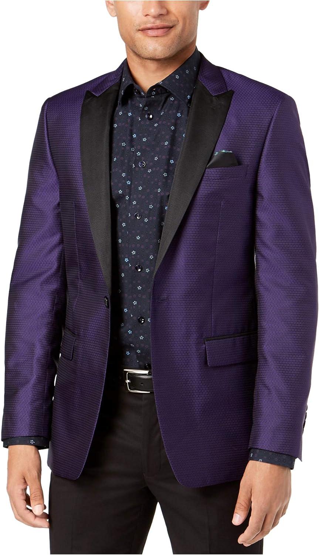 Tallia Mens Purple Dinner One Button Blazer Jacket
