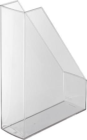 2x herlitz Stehsammler DINA4 Kunststoff farblos transparent Stehordner Plastik