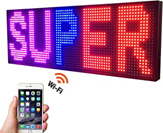 """NEW SMD LED SIGN 39"""" X 14"""" BRIGHT LED SCROLLING MESSAGE DISPLAY / PROGRAMMABLE BUSINESS ADVERTISING TOOLS"""