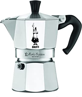 The Original Bialetti Moka Express - 3 Cup Stovetop Coffee Maker with Safety Valve – brews 4.4 ounces (Renewed)