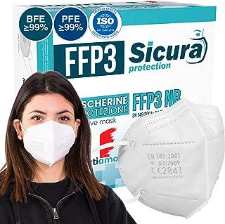 FFP3 mask CE gecertificeerd Gemaakt in Italië. Maskers BFE ≥99%. set van 10 mondkapjes ffp3 UV-C GESANITISEERD en individu...