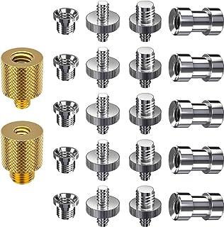 Adaptador Convertidor Muscccm 22 Piezas de Tornillos Convertidores Adaptadores 1/4 3/8 Pulgada de Metal para Cámara Trípode Rig de Hombro Soporte de Luz