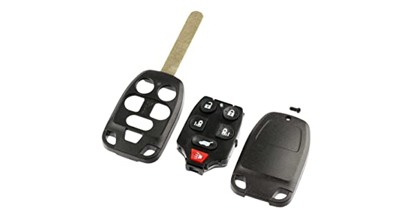 Key Fob Keyless Entry Uncut Remote Shell Case /& Pad fits 2011-2013 Honda Odyssey USARemote