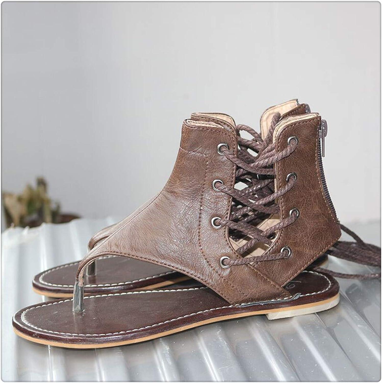 HAHUTG& pu Leather Sandals Women 3543 Fashion Brand 2018 Summer Sandals Women's  JT-803 Brown 7.5