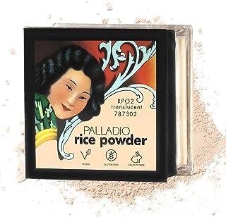 بالاديو مسحوق الأرز، وشفافة، وتحديد فضفاض مسحوق، يمتص الزيت، يترك الوجه تبحث والشعور السلس، يساعد ماكياج لفترة أطول بالنسب...