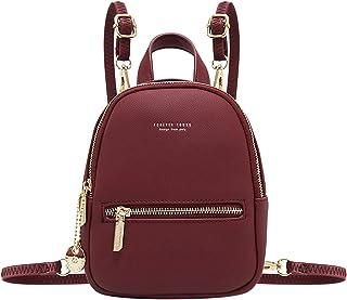 Kleiner Rucksack Damen,Aeeque Mini Damenrucksack Elegant [Aktualisierung 2 Schulterriemen], Weich PU-Leder Leichtgewicht K...