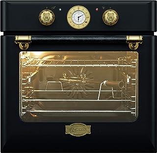 Kaiser EH 6424 BE Retro Einbau Backofen Elektro, Autark, 68 L, Backofen Einbau, Selbstreinigung,Drehspieß,8 Funktionen,Einbaubackofen,E-Herd,Metall mit Antike-Gold-Legierung,Lederbelag,Heißluft