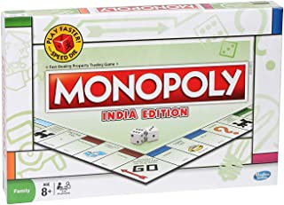 HS INTERNATIONAL India Edition Board Game for Families and Kids Ages 8 and Up, Classic Game Play (Monopoly Indian)