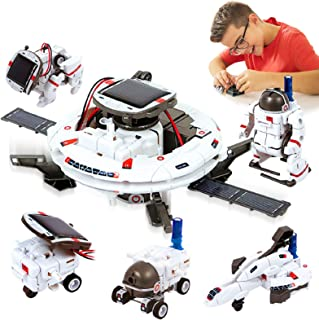 HOMOFY [2020 New Upgrade STEM Toys 6-in-1 Solar Robot Kit Learning Science Building Toys Educational Science Kits Powered ...