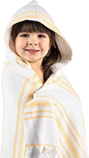 Hooded Bath Towel for Kids, Luxury Soft Hooded, Handmade in Turkey myHavlu - Yellow