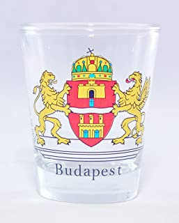 Budapest Hungary Coat Of Arms Shot Glass