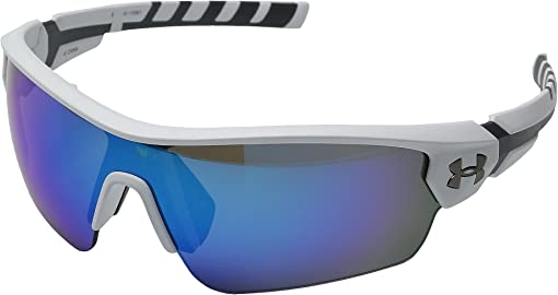 Satin White/Charcoal Gray Frame/Gray/Blue Multiflection Lens
