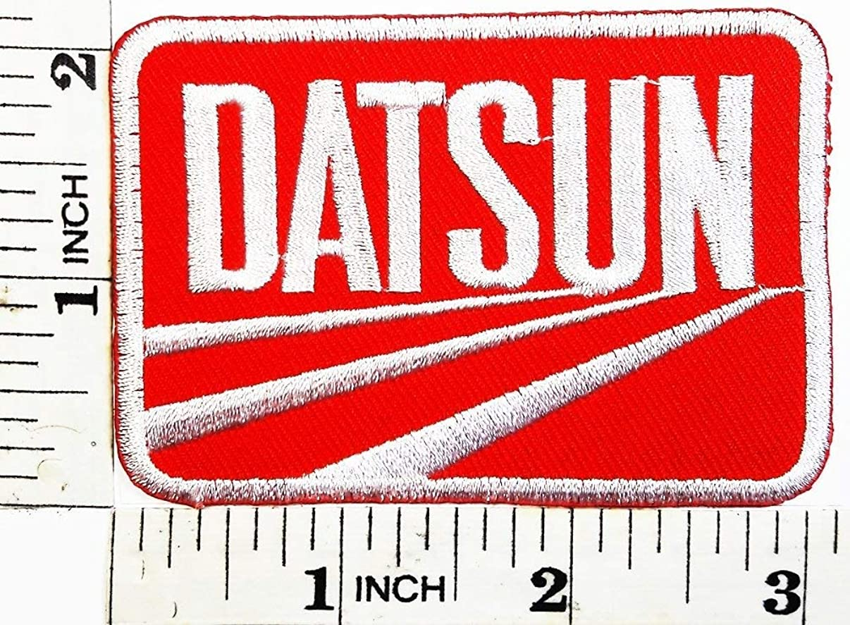 Datsun Car Logo Racing Team Patch Symbol Jacket T-Shirt Embroidered Patch 2.9