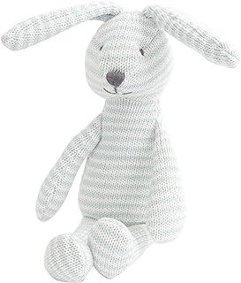 """Mon Ami 10.5"""""""" Pink & White Striped Plush Bunny, Multicolor, Blue"""
