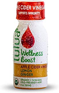 Tulua Apple Cider Vinegar Lemon Ginger Vitality Shots, 12-Pack